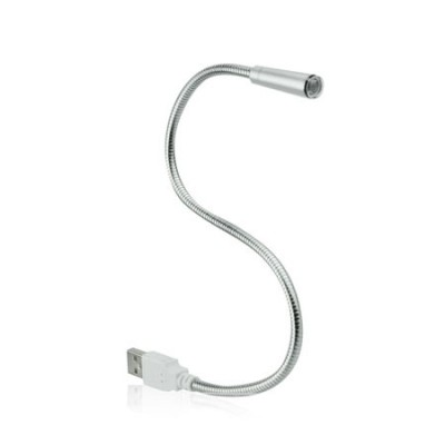 LAMPADA USB A LED BIANCO CON BRACCETTO SEMI-RIGIDO LUNGHEZZA 27 Cm