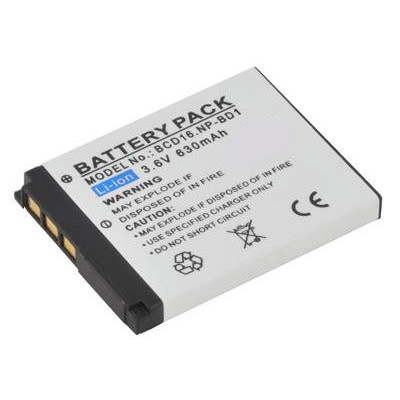 BATTERIA SONY Cyber-shot DSC-T70, Cyber-shot DSC-T2/W 630mAh Li-ion