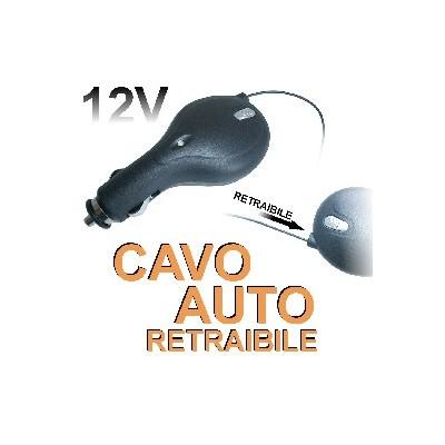 CAVO AUTO RETRAIBILE ALCATEL OT-305, OT-505 ATTACCO MINI USB 12V/24V