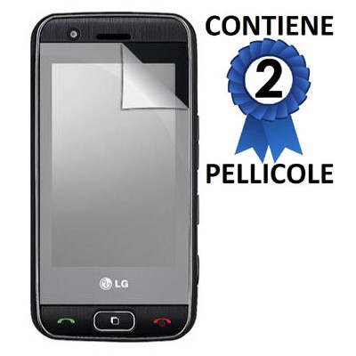 PELLICOLA PROTEGGI DISPLAY LG GT505 CONFEZIONE 2 PEZZI