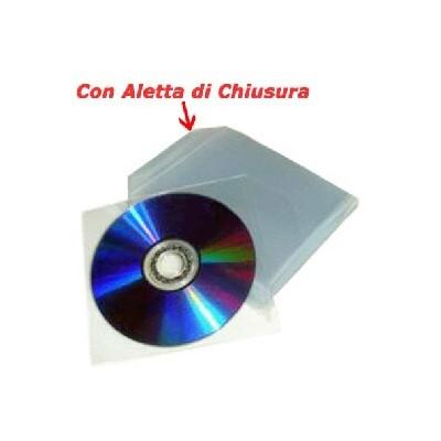 BUSTINE CON ALETTA PER CD/DVD CONFEZIONE DA 100 PZ
