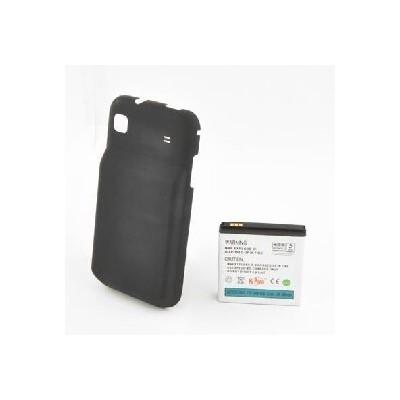 BATTERIA SAMSUNG I9000 Galaxy S, I9001 Galaxy S Plus 2400mAh Li-ion + COPRIBATTERIA RINFORZATO colore NERO