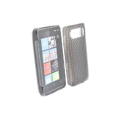 CUSTODIA GEL TPU SILICONE SEMI-RIGIDA per HTC HD7 COLORE NERO