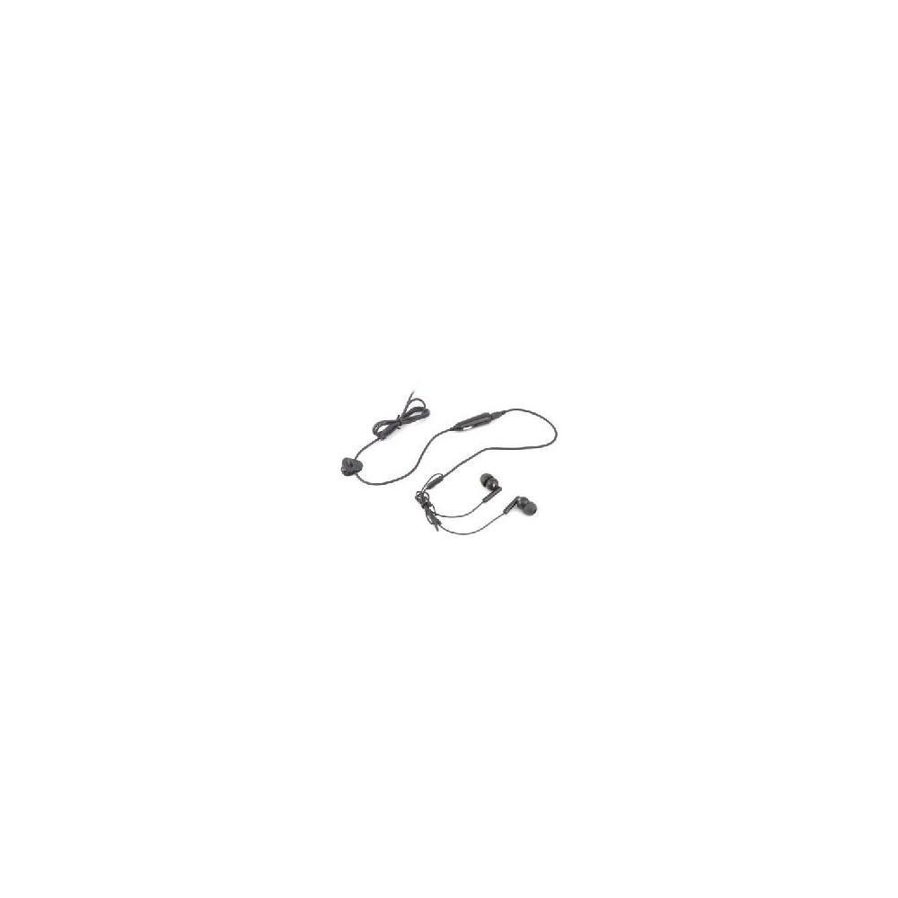 AURICOLARE STEREO SILICONE BLACKBERRY Pearl Flip 8220, Bold 9000  JACK 3,5 mm CON TASTO DI RISPOSTA COLORE NERO