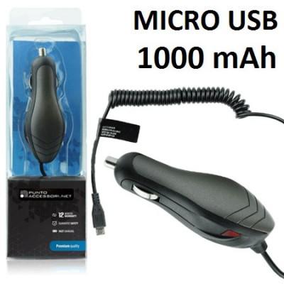 CAVO AUTO ASUS E600 ATTACCO MICRO USB 12V/24V 1000 mAh COLORE NERO