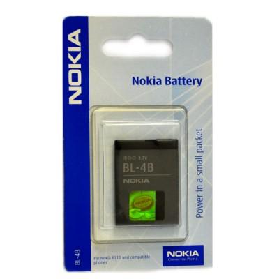 BATTERIA ORIGINALE NOKIA BL-4B per Nokia 6111, N76, 7500 PRISM 700mAh LI-ION BLISTER SEGUE COMPATIBILITA'..