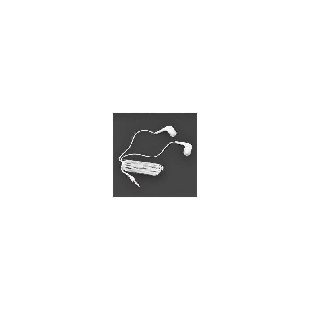 AURICOLARE STEREO SILICONE APPLE IPHONE 2,3,3Gs,4,4s , IPAD2/3,  COLORE BIANCO