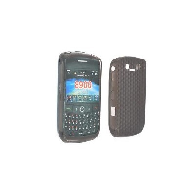 CUSTODIA GEL TPU SILICONE SEMI-RIGIDA per BLACKBERRY 8900 CURVE COLORE NERO