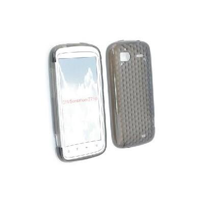 CUSTODIA GEL TPU SILICONE SEMI-RIGIDA per HTC G14, Sensation, Sensation XE COLORE NERO