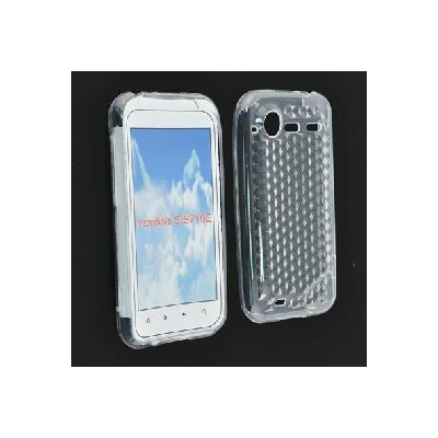 CUSTODIA GEL TPU SILICONE SEMI-RIGIDA per HTC G11, Incredible S COLORE BIANCO