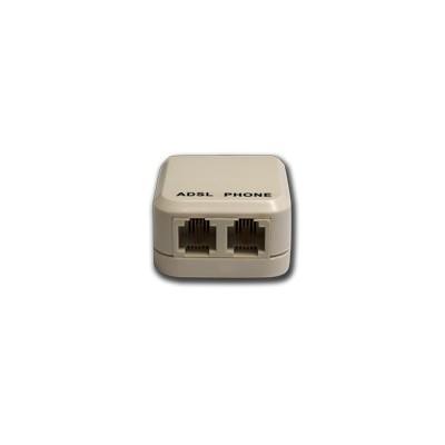 FILTRO ADSL Spina 6P/2C - 2 Prese 6P/2C SIA PER TELEFONO E ADSL CAVETTO NON INCLUSO