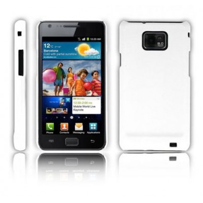 CUSTODIA BACK RIGIDA per SAMSUNG I9100 GALAXY S2, I9105 GALAXY S2 PLUS COLORE BIANCO