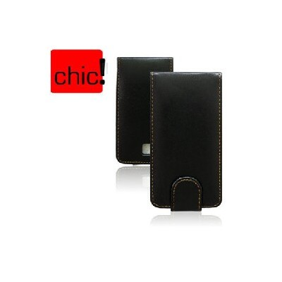 CUSTODIA VERTICALE FLIP PELLE HTC 7 TROPHY, SPARK COLORE NERO
