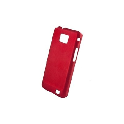 CUSTODIA RIGIDA GOMMATA per SAMSUNG I9100 GALAXY S II, I9105 GALAXY S II PLUS COLORE BORDEAUX