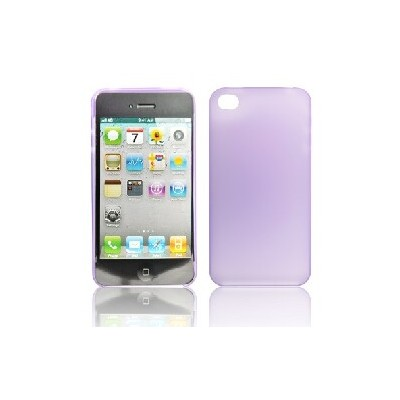 CUSTODIA RIGIDA GOMMATA SLIM per IPHONE 4, 4s VIOLA