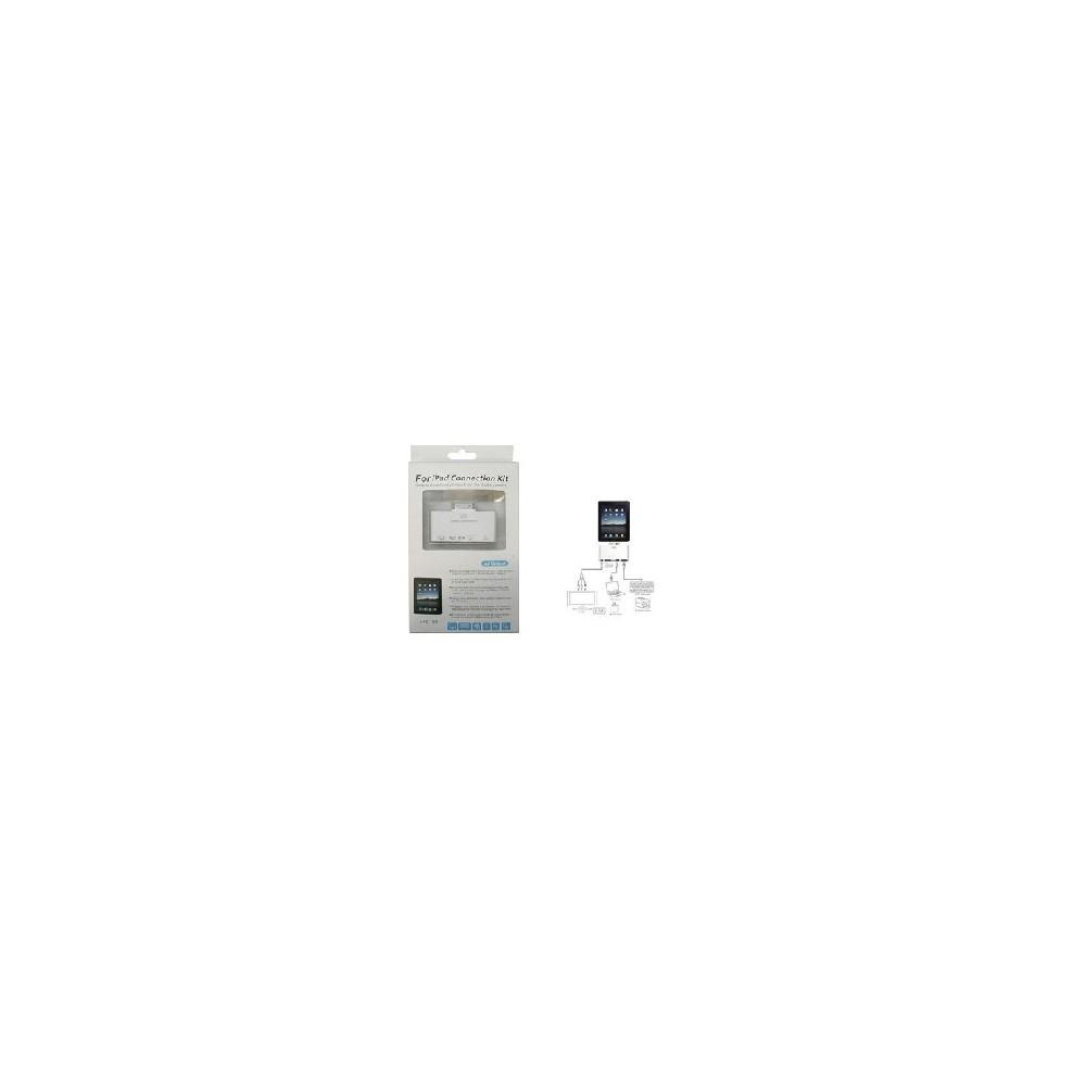 LETTORE DI MEMORIE SD E MICRO SD + PORTA USB FEMMINA + PORTA MINI USB + PORTA AV per APPLE IPAD, IPAD2