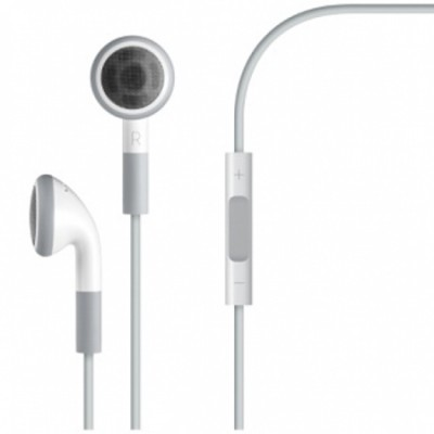AURICOLARE STEREO ORIGINALE APPLE MA770, MB770 CON TASTO CONTROLLO VOLUME JACK 3,5mm per IPHONE 4, 4S, IPAD, IPOD BIANCO BULK
