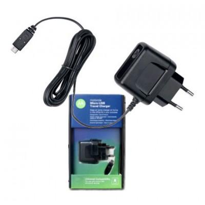 TRAVEL CASA ORIGINALE MOTOROLA P333 ATTACCO MICRO USB per V8, V9 BLISTER
