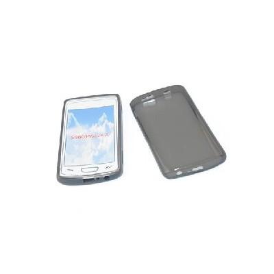 CUSTODIA GEL TPU SILICONE per SAMSUNG S8600 WAVE 3 COLORE NERO