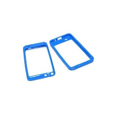 CUSTODIA GEL TPU SILICONE BUMPER per SAMSUNG I9100 Galaxy S2, I9105 Galaxy S2 Plus COLORE BLU