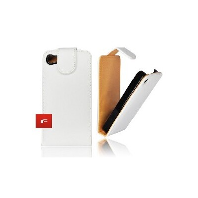 CUSTODIA VERTICALE FLIP PELLE per APPLE IPHONE 3G, 3GS COLORE BIANCO
