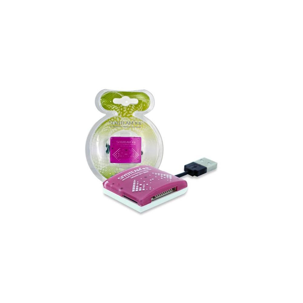 LETTORE DI MEMORIE MINI SMALL UNIVERSALE USB 2.0, COLORE ROSA