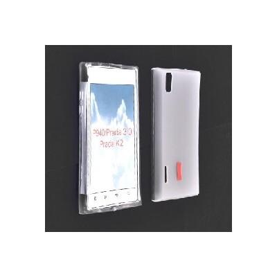 CUSTODIA GEL TPU SILICONE SEMI-RIGIDA per LG P940 Prada 3.0 COLORE BIANCO