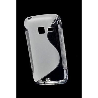 CUSTODIA GEL TPU SILICONE DOUBLE per SAMSUNG S6102 Galaxy Y Duos COLORE BIANCO