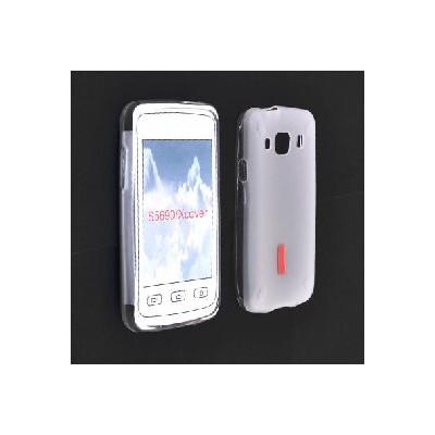 CUSTODIA GEL TPU SILICONE per SAMSUNG S5690 Galaxy Xcover COLORE BIANCO