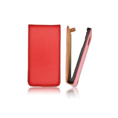 CUSTODIA VERTICALE SLIM FLIP PELLE per APPLE IPHONE 4, 4s COLORE ROSSO