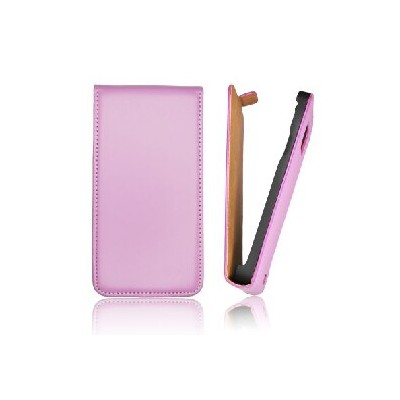 CUSTODIA VERTICALE SLIM FLIP PELLE per APPLE IPHONE 4, 4s COLORE VIOLA
