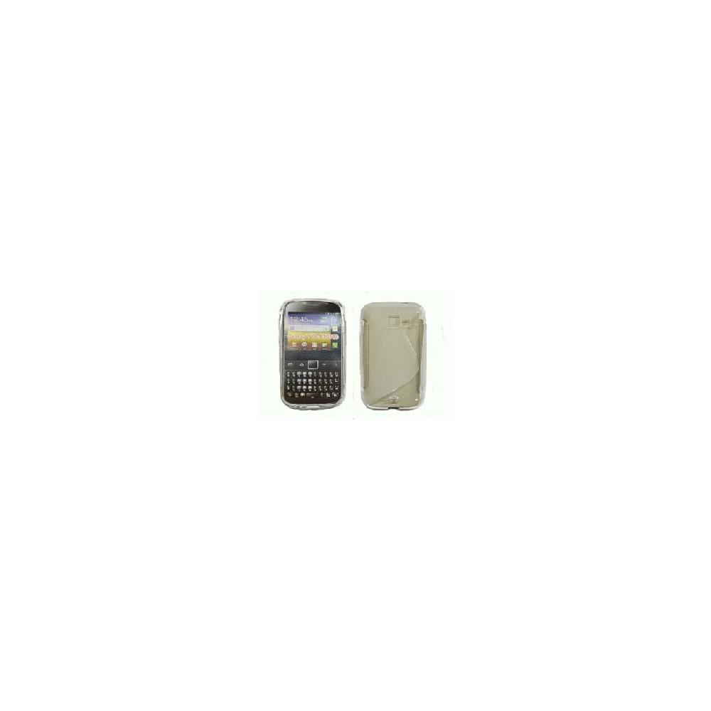 CUSTODIA GEL TPU SILICONE DOUBLE per SAMSUNG B5510 Galaxy Y Pro COLORE BIANCO