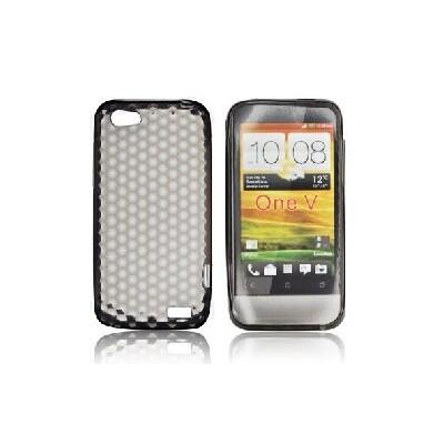 CUSTODIA GEL TPU SILICONE SEMI-RIGIDA per HTC ONE V COLORE NERO