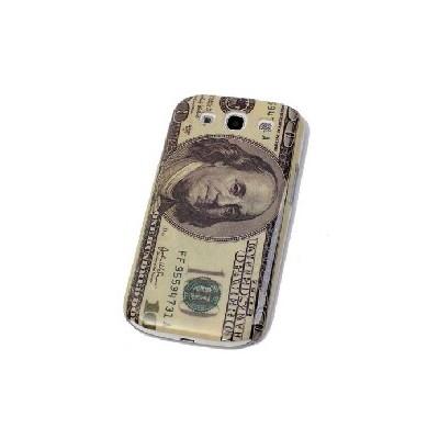 CUSTODIA BACK RIGIDA per SAMSUNG I9300 Galaxy S3, I9305 Galaxy S3 LTE 4G FANTASIA DOLLARO