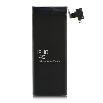 BATTERIA COMPATIBILE per APPLE IPHONE 4S 1430 mAh LI-ION + FLAT CABLE E CONNETTORE