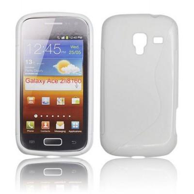 CUSTODIA GEL TPU SILICONE DOUBLE per SAMSUNG I8160 Galaxy Ace 2 COLORE BIANCO