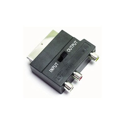 ADATTATORE SCART / RCA CON SWITCH SCART 56
