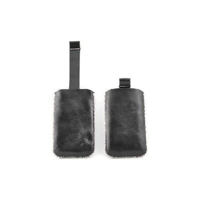 CUSTODIA A SACCHETTO IN PELLE per SAMSUNG I9000 E MODELLI SIMILARI COLORE NERO
