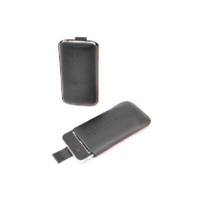 CUSTODIA A SACCHETTO IN PVC per APPLE IPHONE 3G, 3GS, 4, 4S E MODELLI SIMILARI COLORE NERO CON FANTASIA NERA