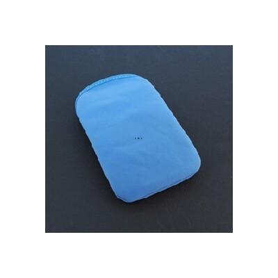 CUSTODIA SACCHETTO IN TESSUTO SCAMOSCIATO per APPLE IPHONE 2G, 3G, 3GS, 4, 4S E MODELLI SIMILARI COLORE AZZURRO