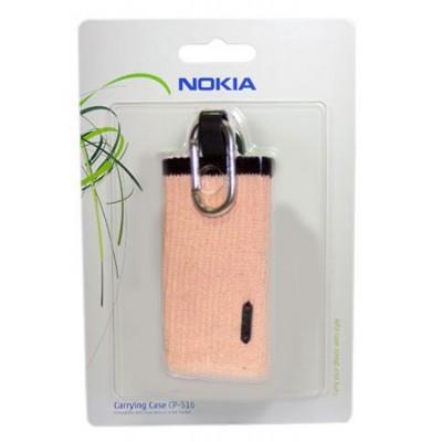 CUSTODIA CALZINO ORIGINALE CP-516 CON MOSCHETTONE per NOKIA N97, N95, X6 COLORE ROSA BLISTER SEGUE COMPATIBILITA'..
