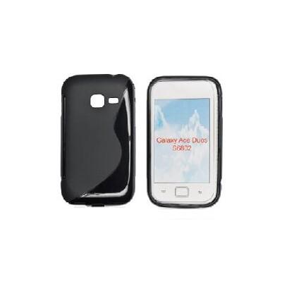 CUSTODIA GEL TPU SILICONE DOUBLE per SAMSUNG S6802 Galaxy Ace Duos COLORE NERO