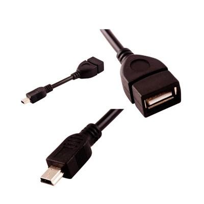 ADATTATORE MINI USB Maschio e USB Femmina