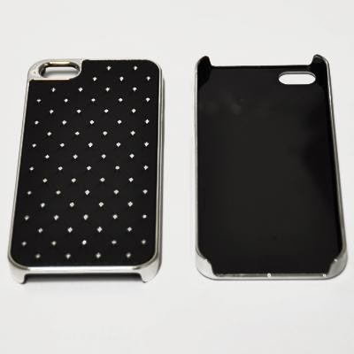 CUSTODIA RIGIDA CON BRILLANTINI per APPLE IPHONE 5, 5S COLORE NERO