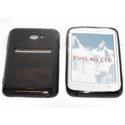 CUSTODIA GEL TPU SILICONE SEMI-RIGIDA per HTC EVO 4G COLORE NERO