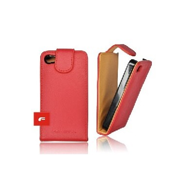CUSTODIA VERTICALE FLIP PELLE per APPLE IPHONE 3G, 3GS COLORE ROSSO