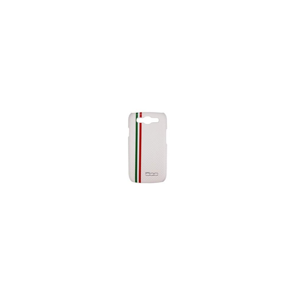 CUSTODIA BACK RIGIDA per SAMSUNG I9300 Galaxy S3, I9300i Galaxy S3 Neo LOGO FIAT 500 COLORE BIANCO