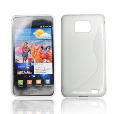 CUSTODIA GEL TPU SILICONE DOUBLE per SAMSUNG I9100 Galaxy S II, I9105 Galaxy S II Plus COLORE BIANCO