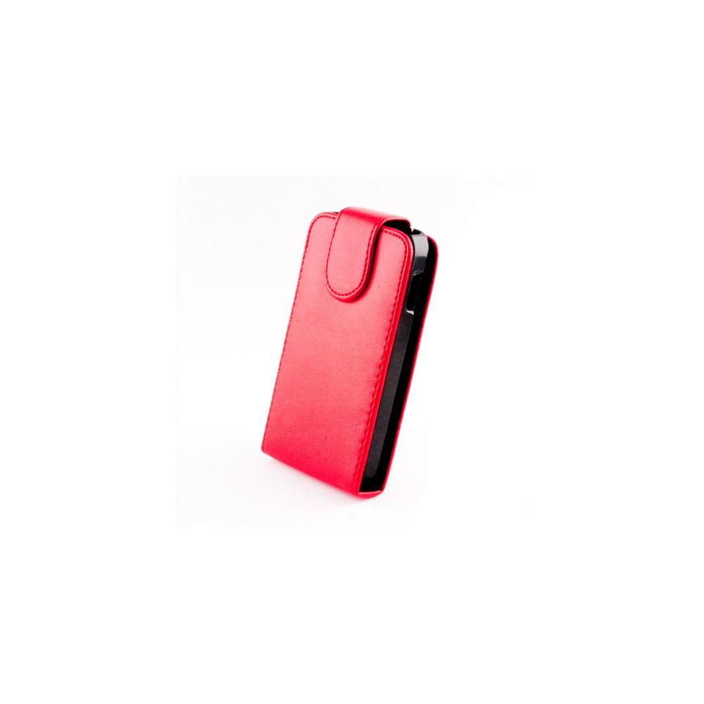 CUSTODIA VERTICALE FLIP PELLE per APPLE IPHONE 5, 5S COLORE ROSSO