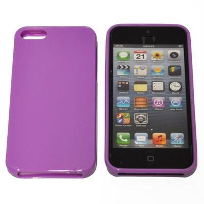 CUSTODIA GEL TPU SILICONE SEMI-RIGIDA per APPLE IPHONE 5, 5S COLORE VIOLA